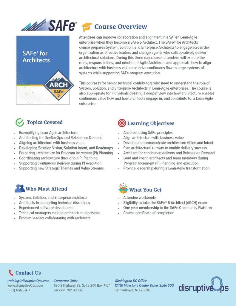 SAFe Architects PDF