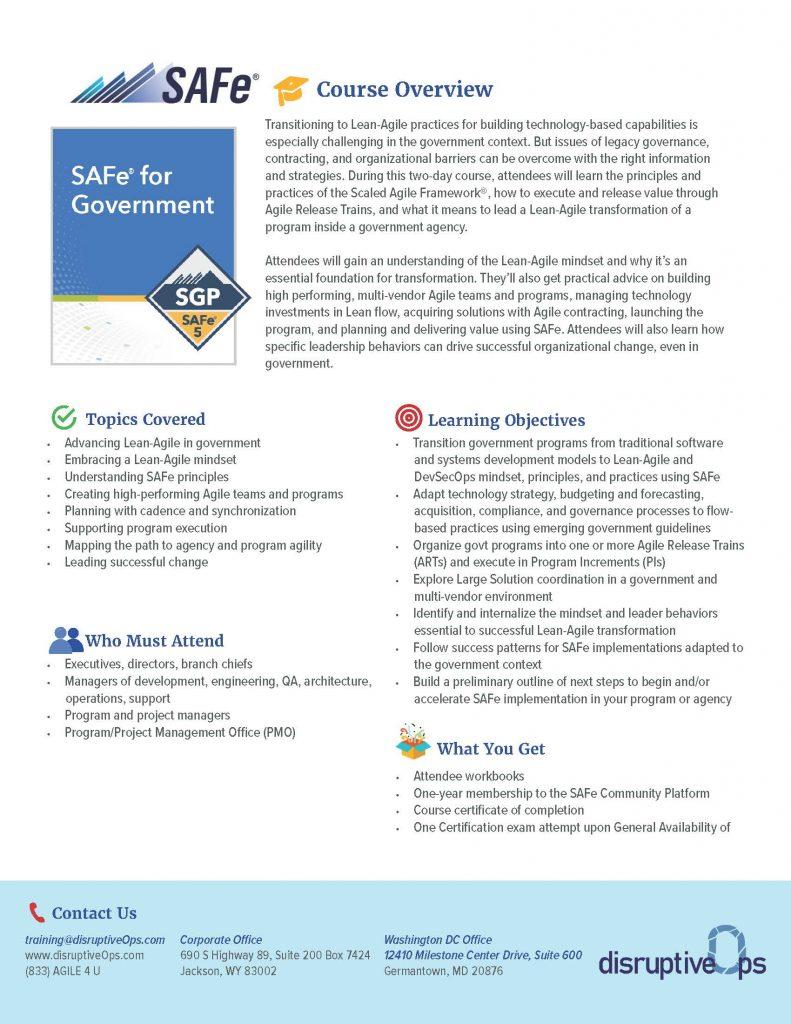 SAFe Government PDF
