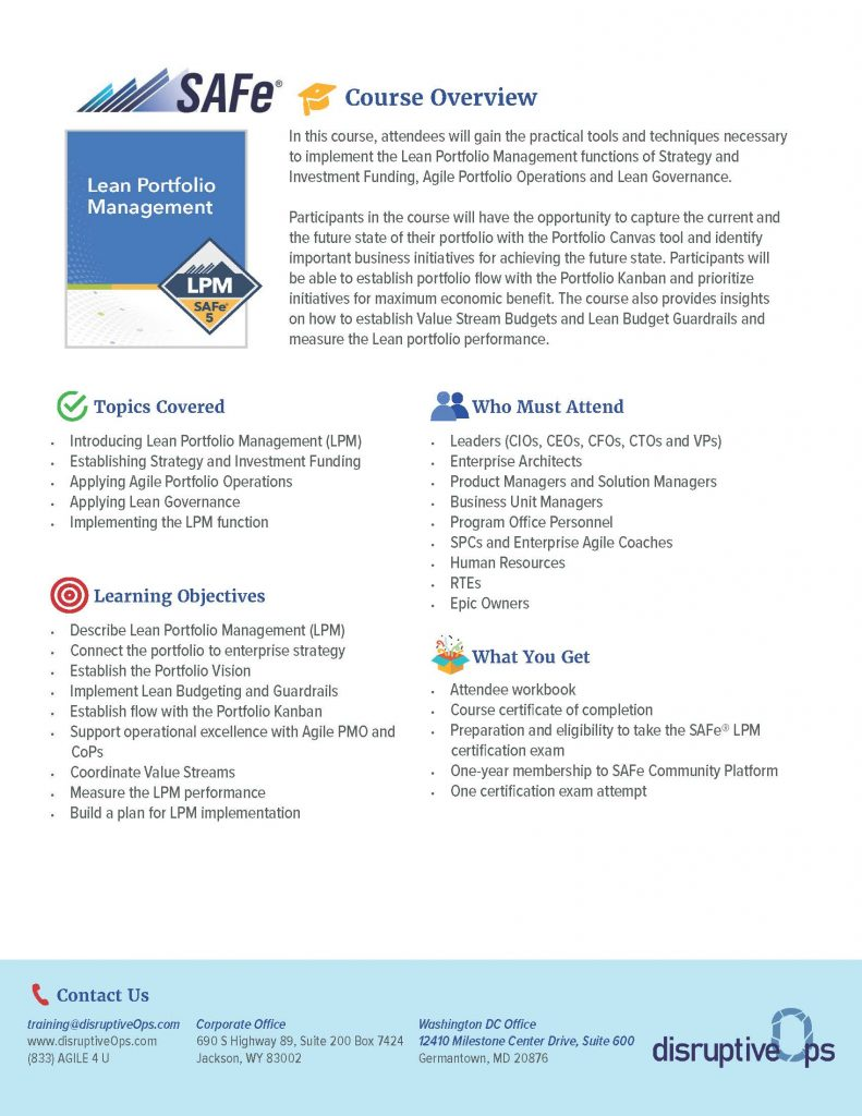 SAFe Lean Portfolio Management PDF