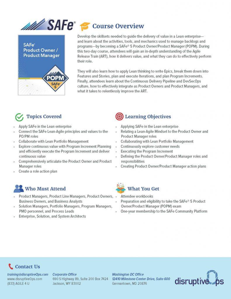 SAFe Product Owner PDF